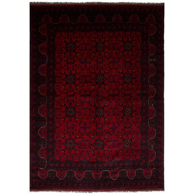 Bilberry Hand-Knotted Wool Red Area Rug