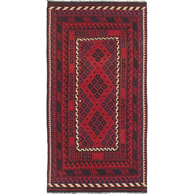 Beverly Hand-Knotted Silk Red Area Rug