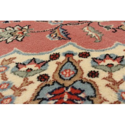 Amberwood Hand-Knotted Wool Salmon Area Rug