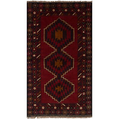 One-of-a-Kind Bethany Traditional Hand-Knotted Wool Red Area Rug