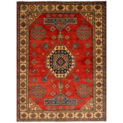 Bernard Hand-Knotted Wool Red Area Rug