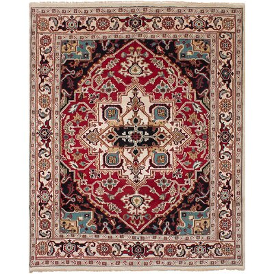 One-of-a-Kind Bertram Hand-Knotted Wool Red Area Rug