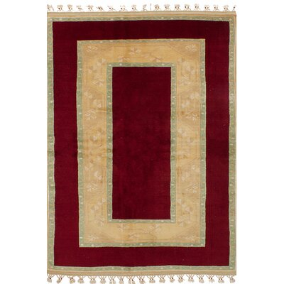 Bettina Hand-Knotted Wool Dark Red Area Rug