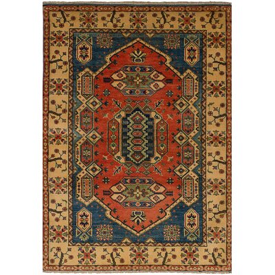 Bernard Hand-Knotted Wool Dark Copper Area Rug