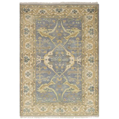 Biddlesden Hand-Knotted Wool Gray Area Rug