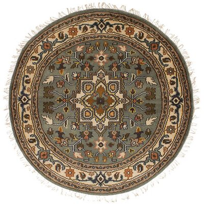 Bertram Traditional Hand-Knotted Wool Gray Area Rug