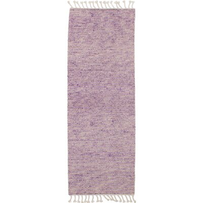 One-of-a-Kind Denissa Hand-Knotted Wool Violet Area Rug