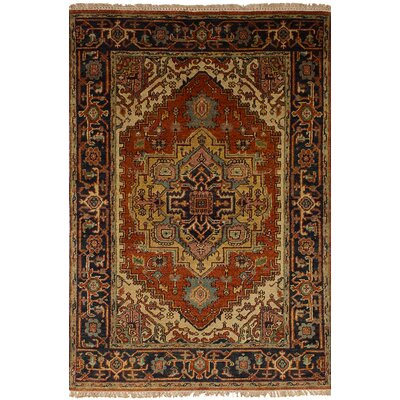 One-of-a-Kind Charleena Hand-Knotted Wool Dark Copper Area Rug