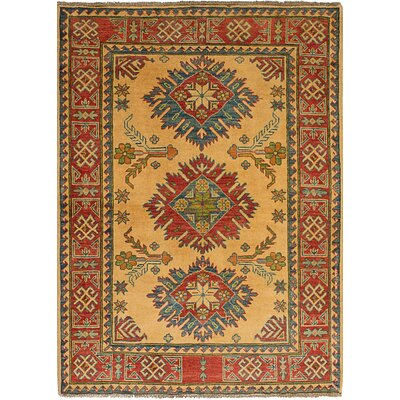 One-of-a-Kind Bernard Transitional Hand-Knotted Wool Cream Area Rug