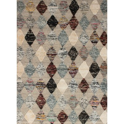 One-of-a-Kind Shelbie Hand-Knotted Wool/Silk Light Khaki Area Rug
