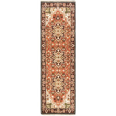 One-of-a-Kind Evony Hand-Knotted Wool Copper Area Rug Rug Size: Runner 26 x 8
