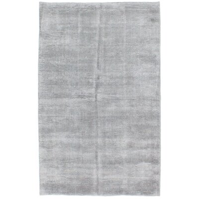 Don Hand Knotted Silk Gray Area Rug