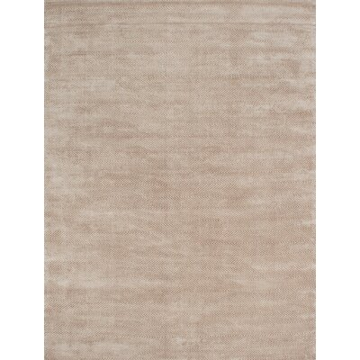 Kitt Hand Tufted Silk Beige Area Rug