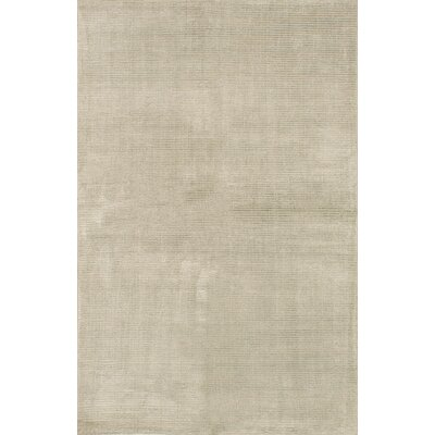 Don Hand Knotted Silk Light Green Area Rug
