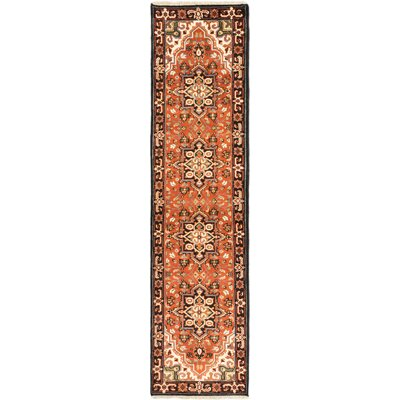 One-of-a-Kind Evony Hand-Knotted Wool Copper Area Rug Rug Size: Runner 26 x 10