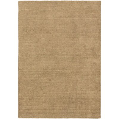 Bria Hand Knotted Wool Beige Area Rug
