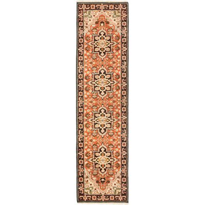 One-of-a-Kind Evony Hand-Knotted Wool Copper Area Rug Rug Size: Runner 27 x 10