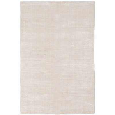One-of-a-Kind Don Hand Knotted Silk Cream Area Rug