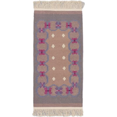 Destrie Wool Ivory/Pink Area Rug