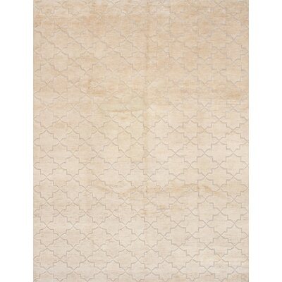 Carswell Hand-Knotted Wool Beige Area Rug