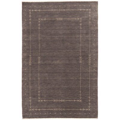 Morales Hand Knotted Wool Gray Area Rug