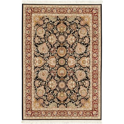 Reichman Hand-Loomed Silk Black/Beige Area Rug