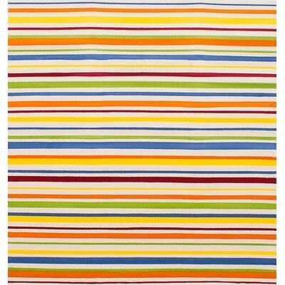 Luann Cream Striped Area Rug Rug Size: 55 x 58
