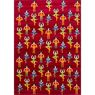 Luann Red Dancing Girls Area Rug