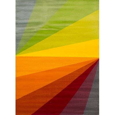 Harford Rectangle Orange/Red Area Rug