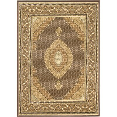 Stolz Dark Brown Area Rug Rug Size: 4'7
