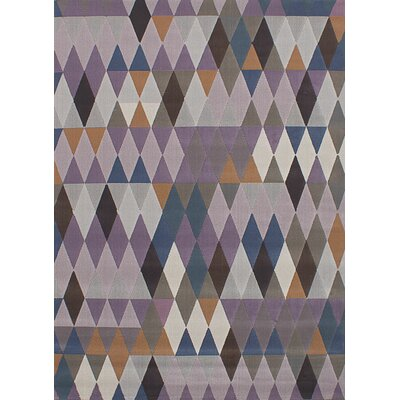 Demarcus Dark Violet/Light Gray Area Rug