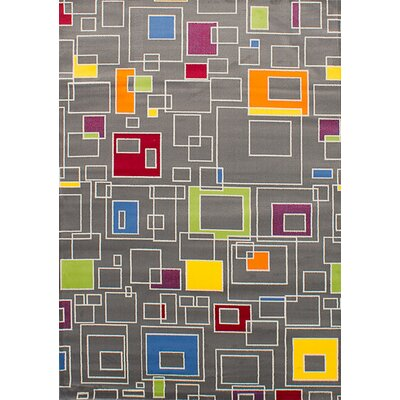 Harford Rectangular Gray Area Rug