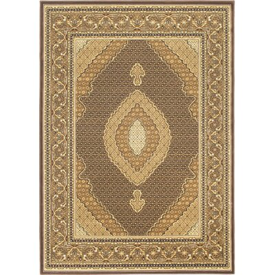 Stolz Dark Brown Area Rug Rug Size: 67 x 96
