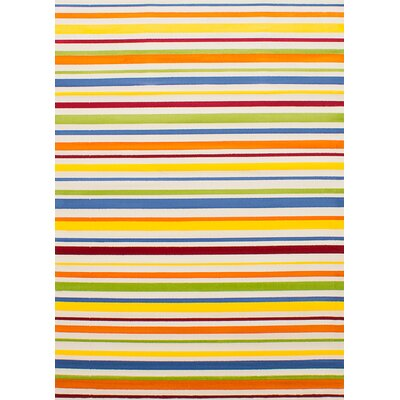 Luann Cream Striped Area Rug Rug Size: 55 x 78