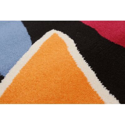 Black/Orange Area Rug