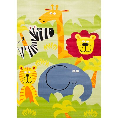 Luann Light Green Jungle Area Rug