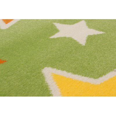 Luann Light Green Star Area Rug