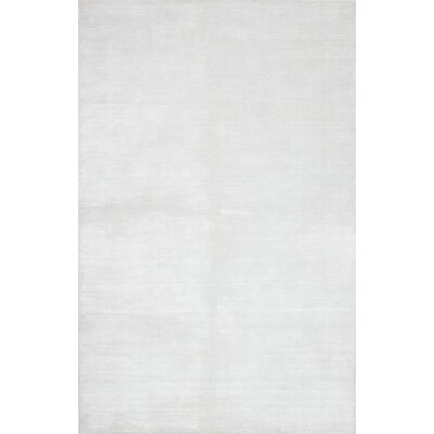 Don Hand-Knotted Silk Cream Area Rug