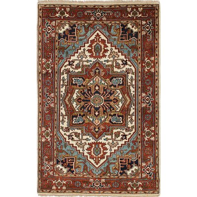 Briggs Traditional Hand Knotted Wool Dark Copper Fringe Area Rug