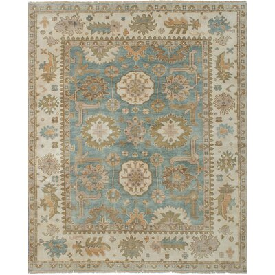 Li Hand Knotted Wool Light Blue Area Rug