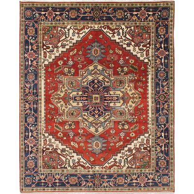 Briggs Floral Hand Knotted Rectangle Wool Dark Copper Area Rug