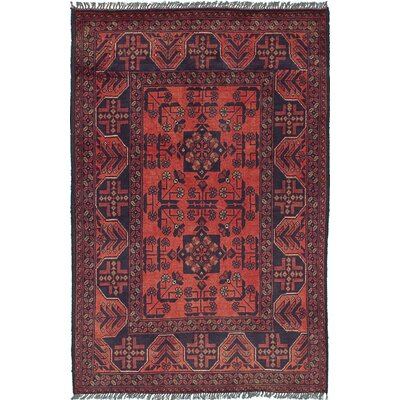 One-of-a-Kind Rosales Traditional Hand Knotted Wool Dark Copper Area Rug
