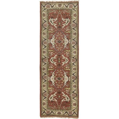 Li Hand Knotted Wool Dark Orange/Red Area Rug