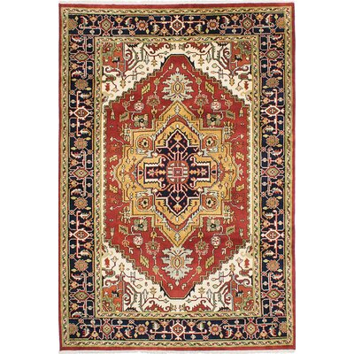 One-of-a-Kind Briggs Traditional Hand Knotted Rectangle Wool Dark Copper Area Rug