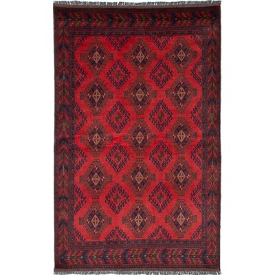 Rosales Hand Knotted Rectangular Wool Dark Copper Area Rug