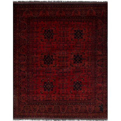 One-of-a-Kind Rosales Traditional Hand Knotted Rectangle Wool Red Indoor Area Rug