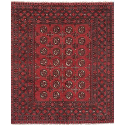 One-of-a-Kind Bridges Traditional Southwestern Hand Knotted Wool Red Area Rug