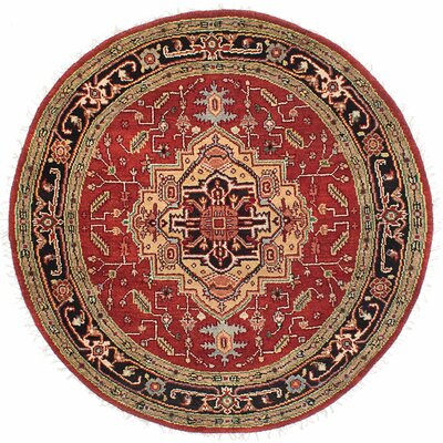 One-of-a-Kind Briggs Traditional Hand Knotted Wool Red Area Rug