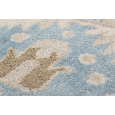One-of-a-Kind Li Traditional Hand Knotted Wool Light Blue Indoor Area Rug