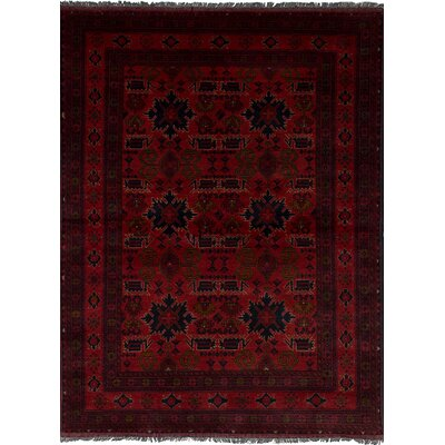 One-of-a-Kind Rosales Traditional Hand Knotted Rectangle 100% Wool Red Indoor Area Rug